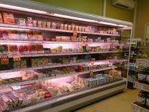 Mobilier frigorifique positif magasin la Vie claire St Maximin avant travaux 2013